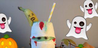 Vil du servere grøn milkshake frå eit halloweenglas? (Foto: Framtida junior)