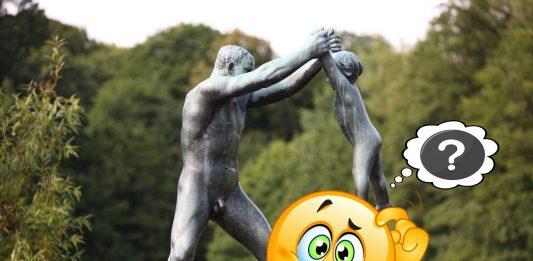 I Vigelandsparken i Oslo er det 214 skulpturar med nakne menneske. Hit kjem turistar frå heile verda for å sjå. Foto: Hans A Rosbach / Flickr