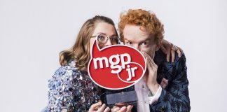 Sigrid «Siggen» er ny programleiar i MGPjr, saman med fjorårets programleiar Mikkel Niva. Foto: Julia Naglestad/NRK