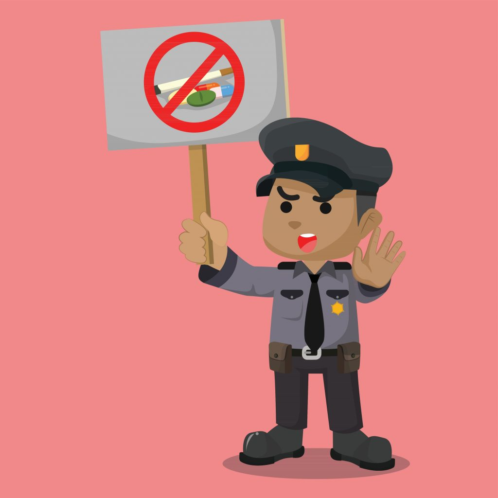 I Noreg er det mange rusmiddel som er ulovleg. Overdriven bruk av rus er skadeleg.